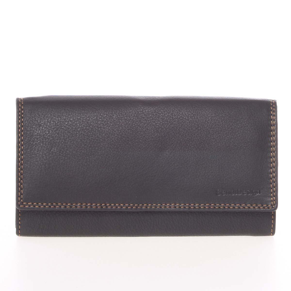 Dámská černá kožená prošívaná peněženka - SendiDesign Phoibe černá