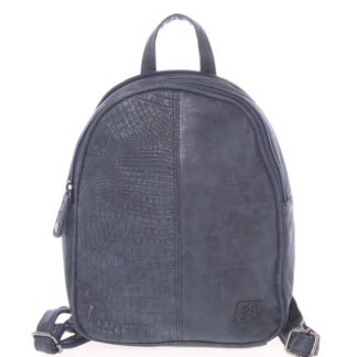 Malý stylový dámský batoh tmavě modrý - Enrico Benetti Abba modrá