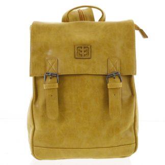 Módní stylový střední batoh okrově žlutý - Enrico Benetti Traverz   žlutá