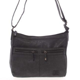 Střední měkká dámská crossbody kabelka černá - Enrico Benetti Enjoy černá