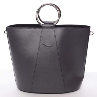 Nadčasová dámská kabelka s organizérem šedá - Delami Karsyn šedá