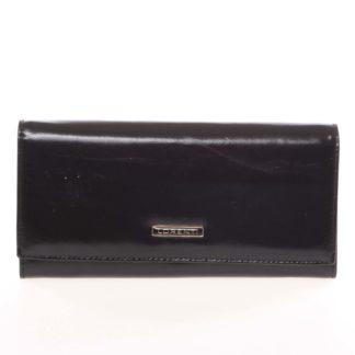 Luxusní hladká kožená černá peněženka - Lorenti 2401N černá