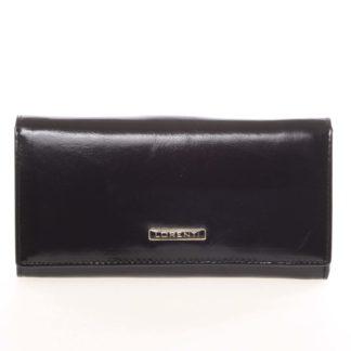 Luxusní dámská kožená peněženka černá - Lorenti 4003N černá
