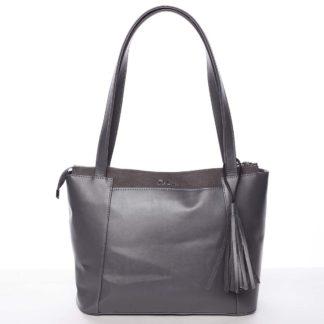 Moderní pevná kabelka šedá - Delami Hope šedá