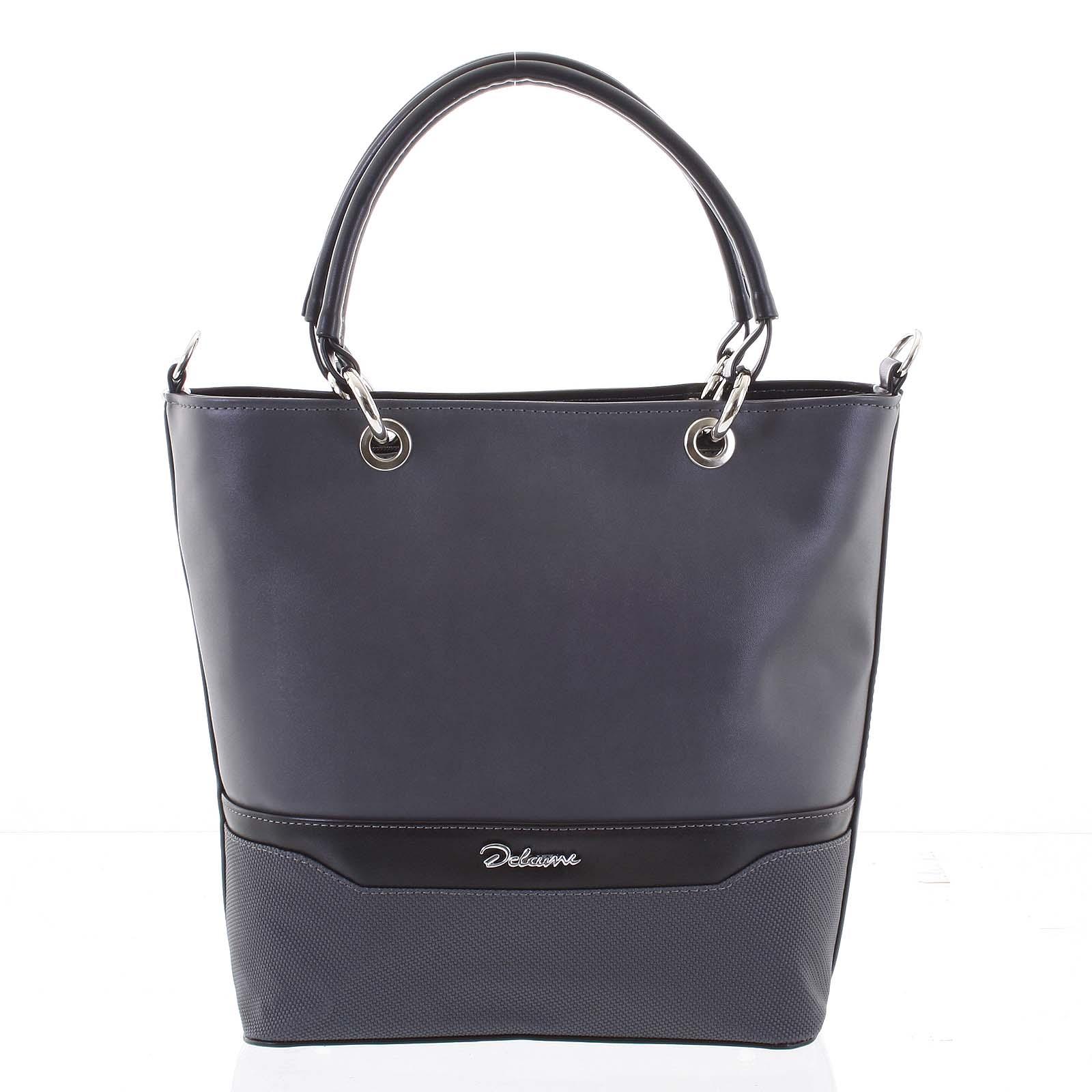 Jedinečná dámská kabelka šedá - Delami Leanna šedá