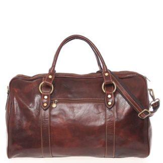 Velká cestovní kožená taška hnědá - ItalY Equado hnědá