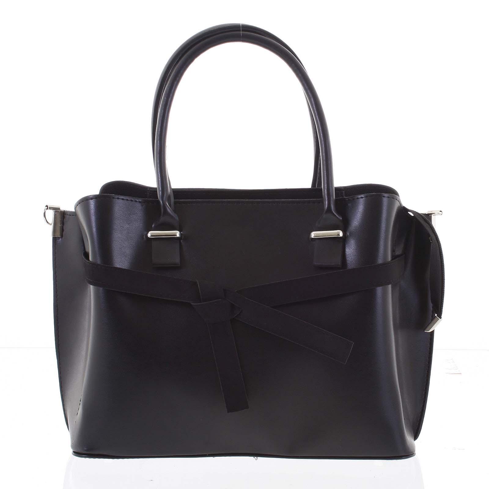 Trendy dámská kabelka do ruky černá - Delami Giovanna černá
