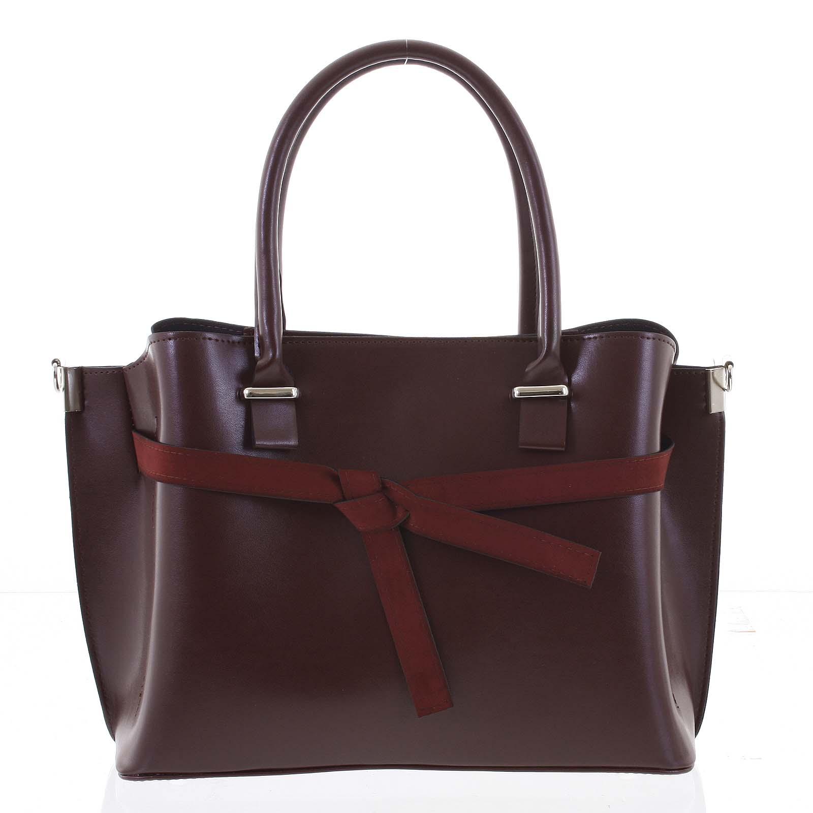 Trendy dámská kabelka do ruky vínová - Delami Giovanna vínová