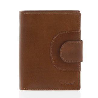 Elegantní pánská kožená světle hnědá peněženka - Delami Norm hnědá