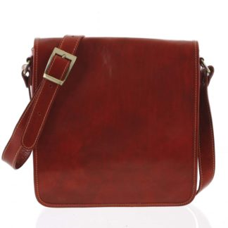 Pánská luxusní kožená taška přes rameno červená - ItalY Jamar červená