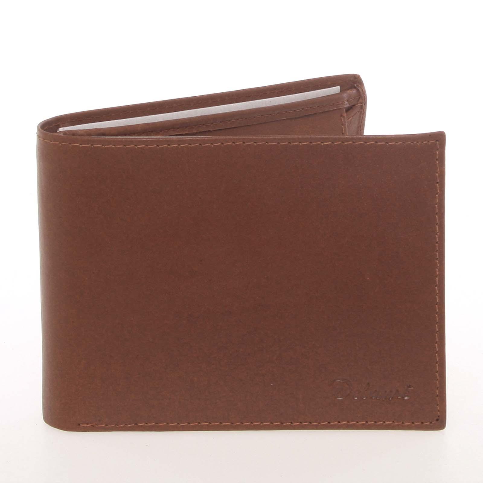 Pánská kožená koňaková peněženka - Delami Colbey koňak