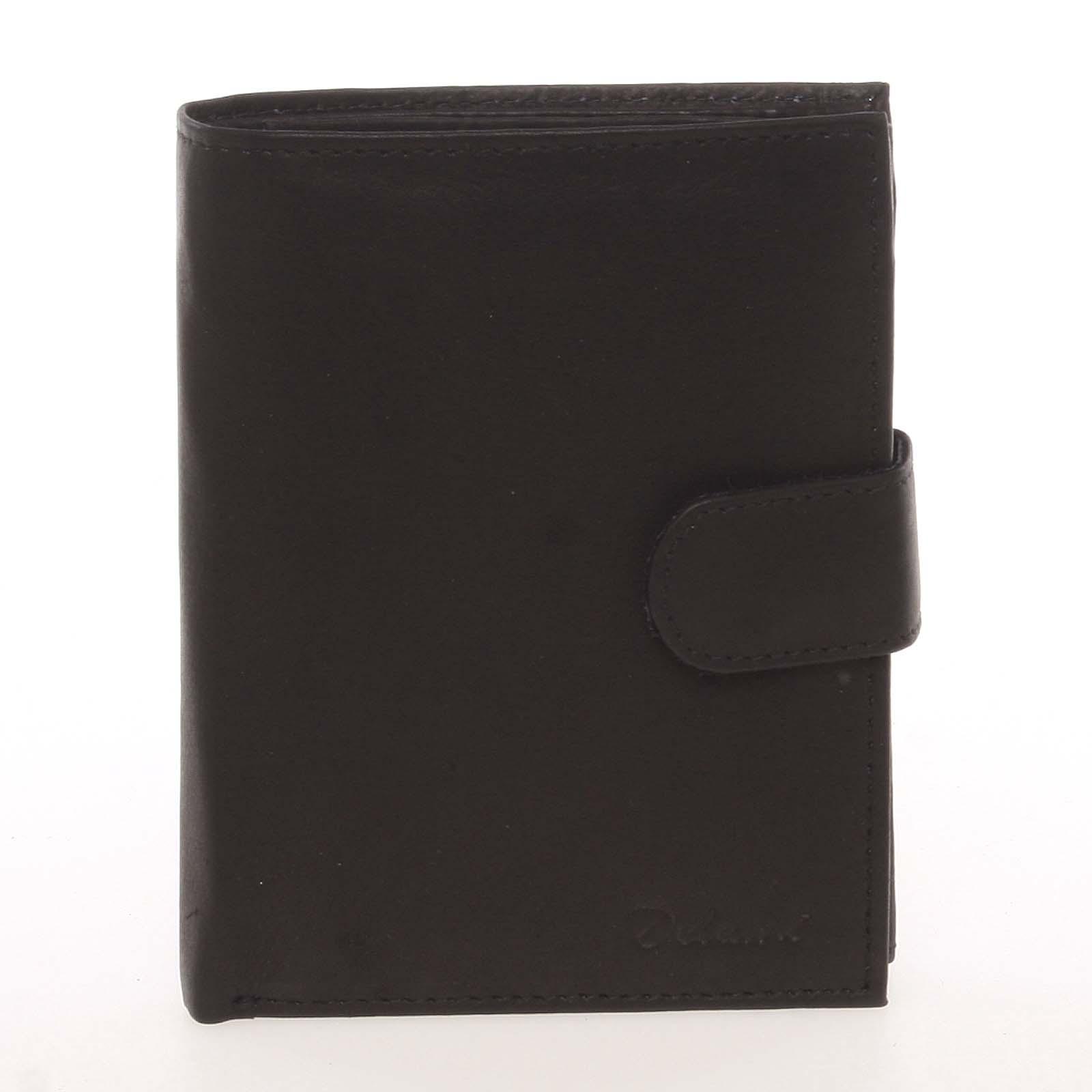 Módní pánská kožená černá peněženka - Delami Chappel černá