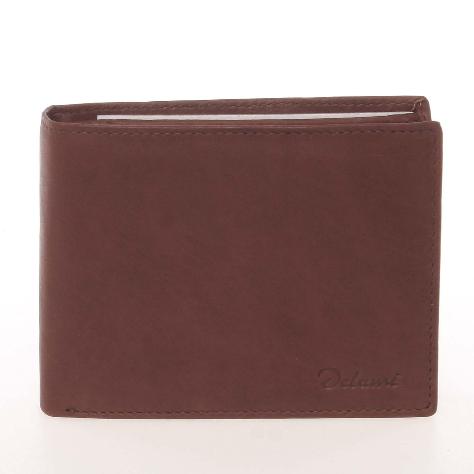 Kvalitní pánská kožená hnědá peněženka - Delami Archard hnědá