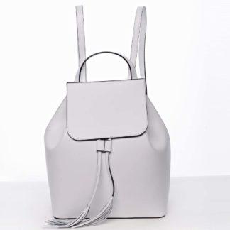 Luxusní dámský batoh bílý kožený - ItalY Adelpha bílá