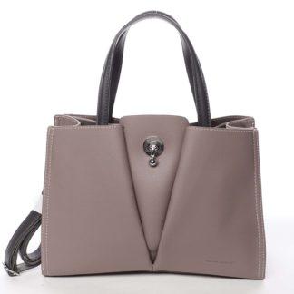 Luxusní dámská tmavě růžová kabelka do ruky - David Jones Aedon růžová