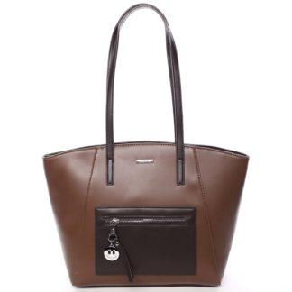 Moderní dámská kabelka přes rameno hnědá - David Jones Adria hnědá