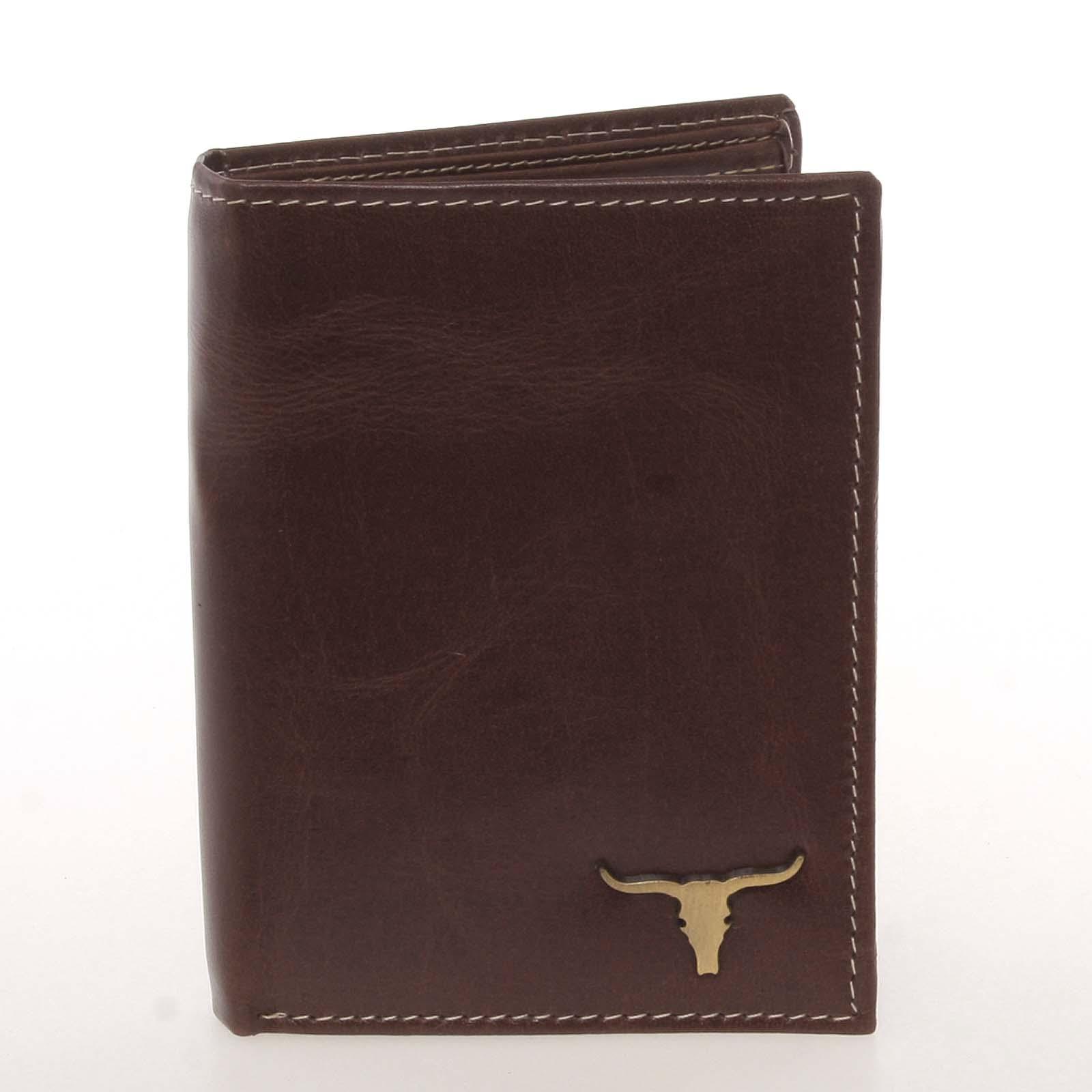 Kvalitní pánská kožená hnědá peněženka - BUFFALO Paden hnědá