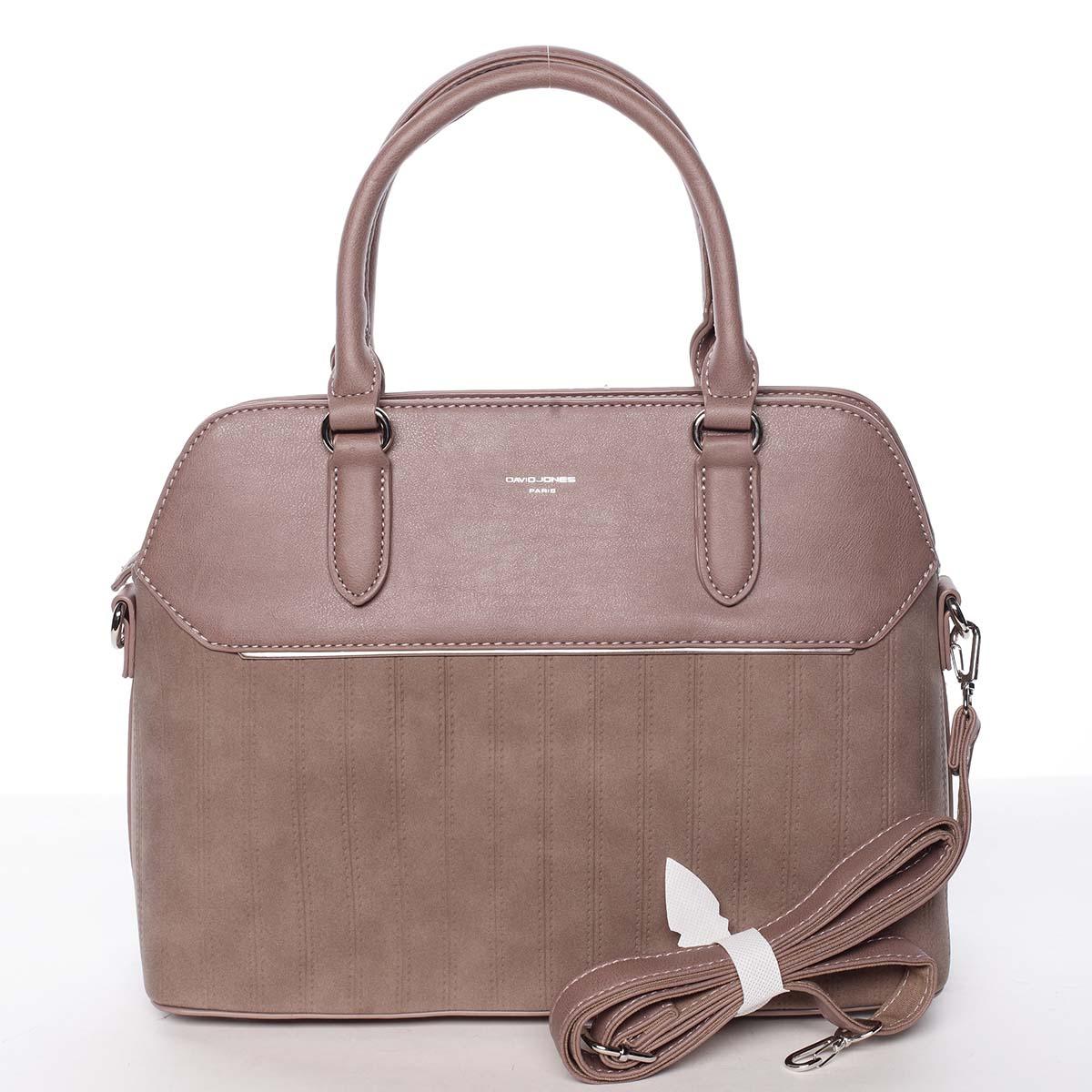 Luxusní a originální dámská tmavě růžová kabelka - David Jones Admeta růžová