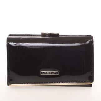 Jedinečná dámská lakovaná kožená peněženka černá - Lorenti 55020SH černá