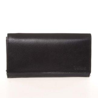 Dámská kožená černá peněženka - Delami CHAGL04104 černá