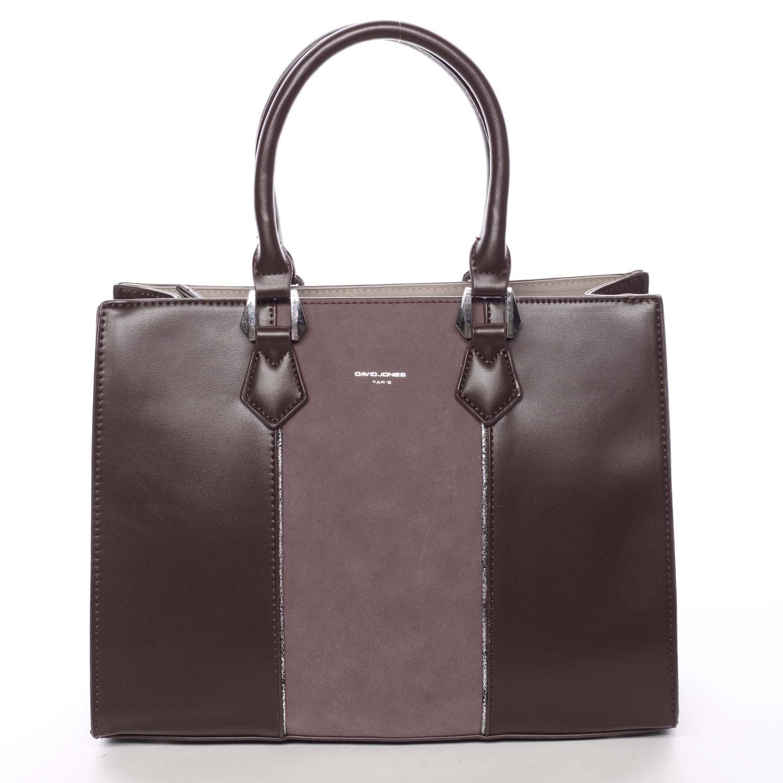 Elegantní dámská vínová kabelka do ruky - David Jones Zeruiah vínová