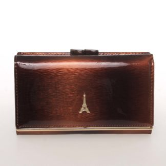 Exkluzivní střední kožená dámská peněženka hnědá - PARIS 55020DSHK hnědá
