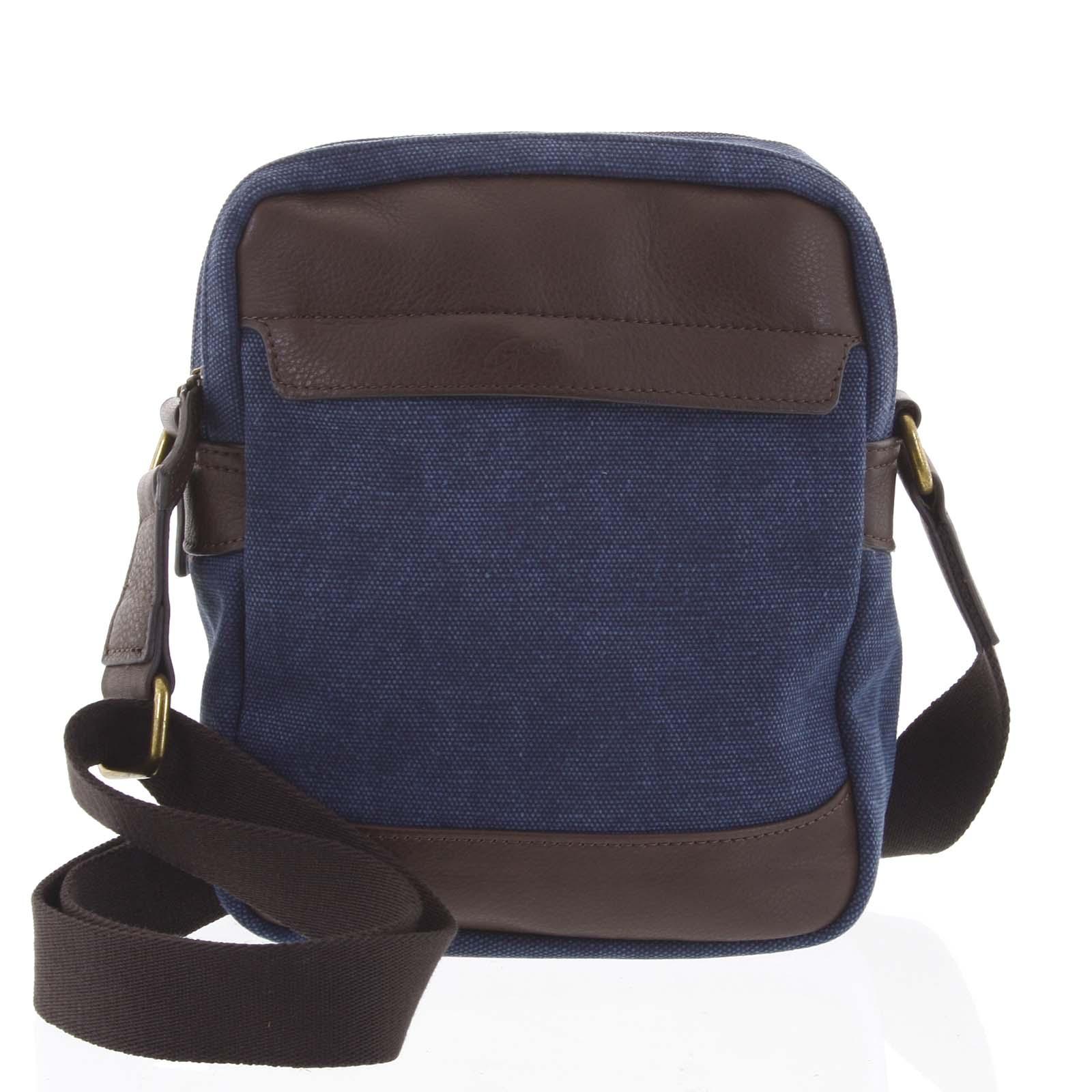 Stylová dvoukomorová pánská taška na doklady modrá - Gerard Henon Percy modrá