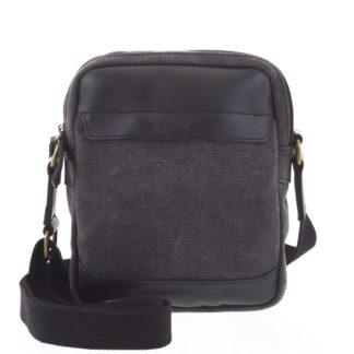Stylová dvoukomorová pánská taška na doklady černá - Gerard Henon Percy černá