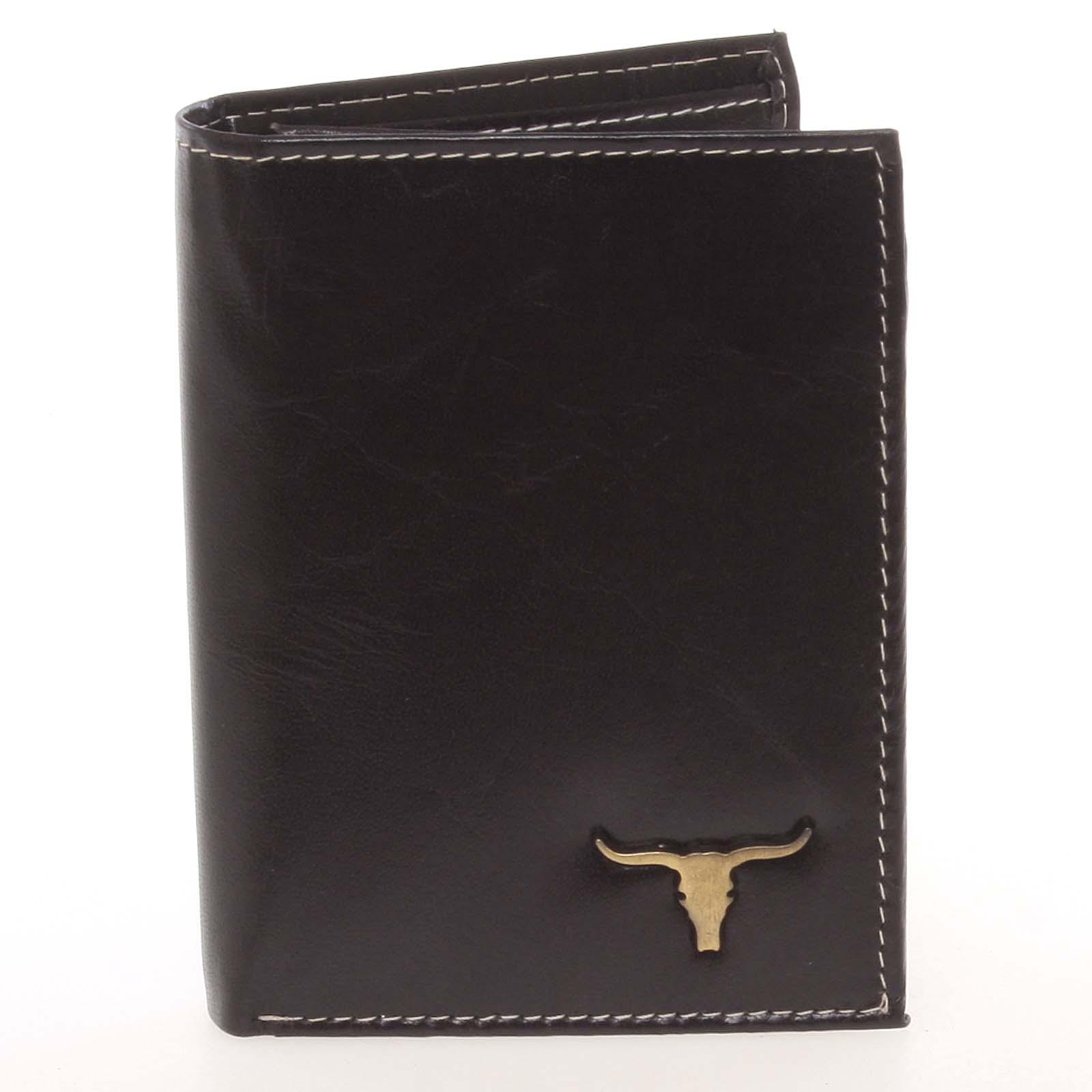 Elegantní pánská černá kožená peněženka - BUFFALO Dilan černá