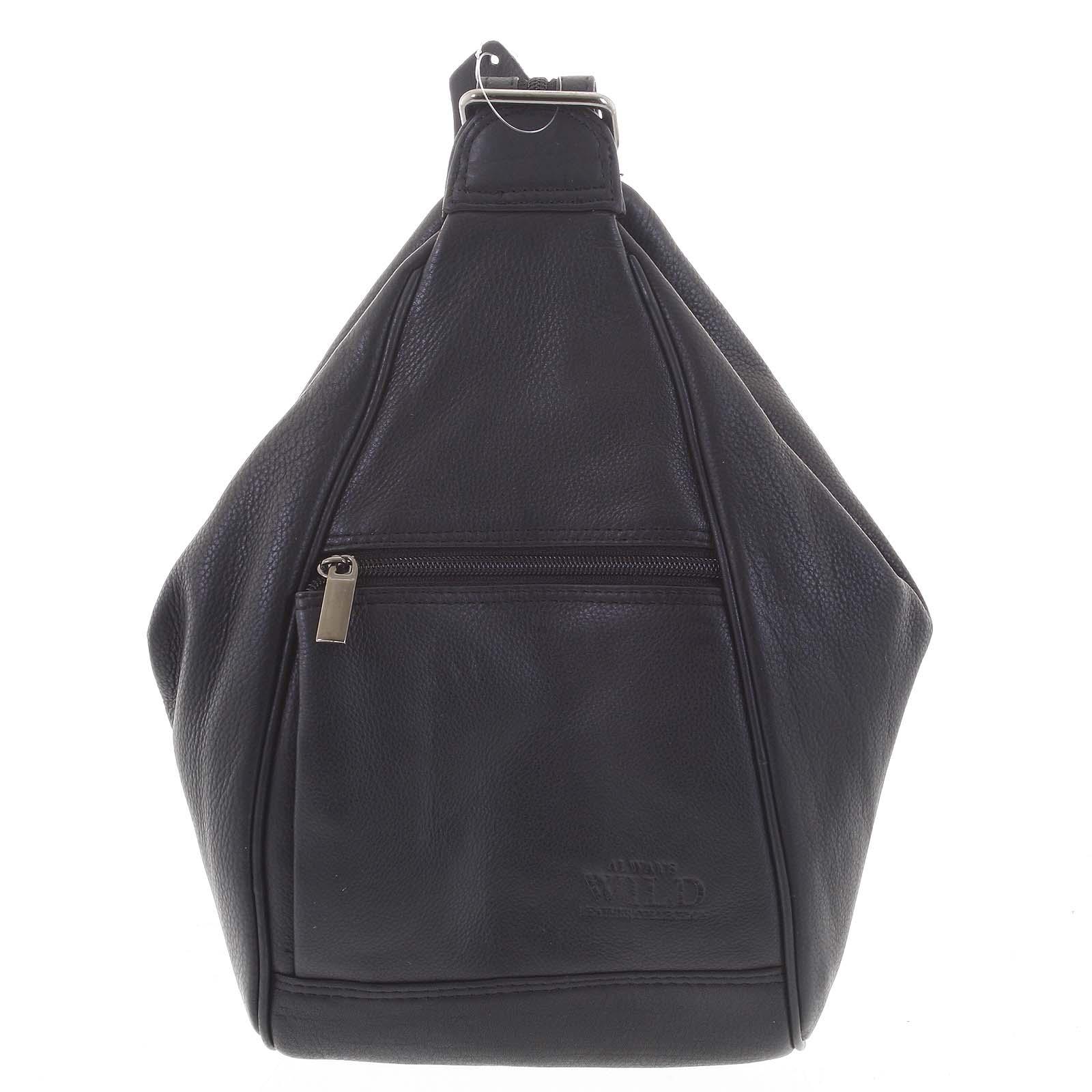 Dámský kožený batůžek černý - WILD Queen černá