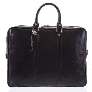 Kožená business taška černá - ItalY Paolo černá