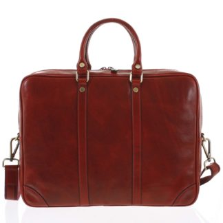 Kožená business taška červená - ItalY Paolo červená