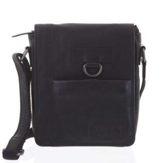 Luxusní pánská kožená taška černá - Kimberley Nozeus černá