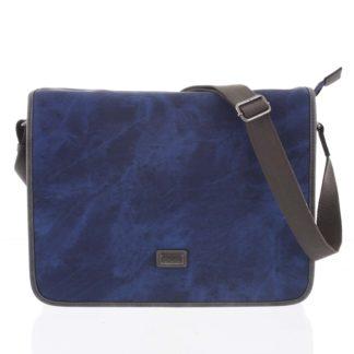 Velká modrá moderní taška na notebook - Lee Cooper Aesculapius modrá