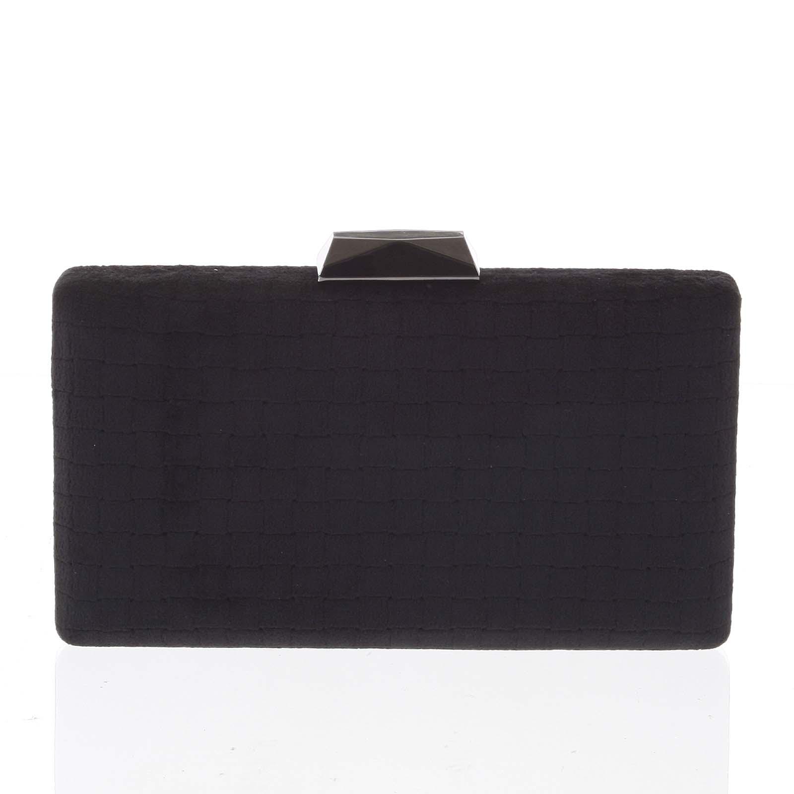 Luxusní semišové originální černé psaníčko - Delami ZL093 černá