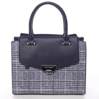 Luxusní dámská tmavě modrá kabelka do ruky - David Jones Agathi modrá