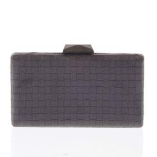 Luxusní semišové originální tmavě šedé psaníčko - Delami ZL093 šedá
