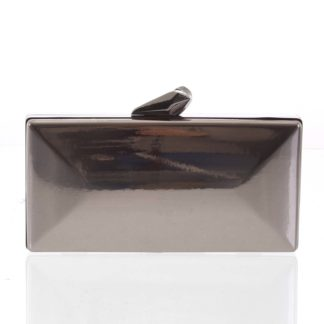 Luxusní lakované dámské šedé psaníčko - Delami Presha šedá