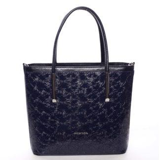 Dámská jemná tmavě modrá kabelka se vzorem květin - Annie Claire Flower modrá