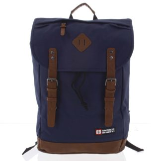 Velký stylový tmavě modrý batoh - Enrico Benetti Spoon modrá