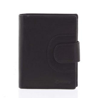 Pánská kožená prošívaná peněženka černá - Diviley Universe černá