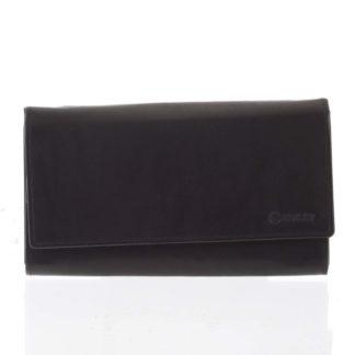 Dámská klasická černá kožená peněženka - Diviley Uniberso černá