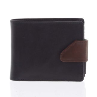Hladká pánská černá kožená peněženka - Tomas 76VT černá
