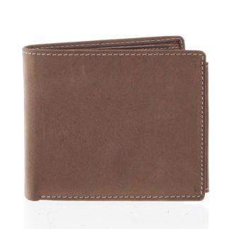 Prostorná pánská kožená hnědá peněženka - Tomas Vilaj hnědá
