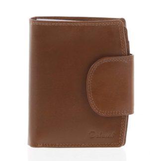 Kožená elegantní světle hnědá peněženka pro muže - Delami 1342CHA hnědá