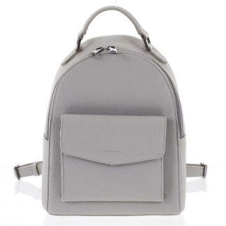 Strukturovaný stylový dámský batůžek světle šedý - Hexagona Zorba šedá
