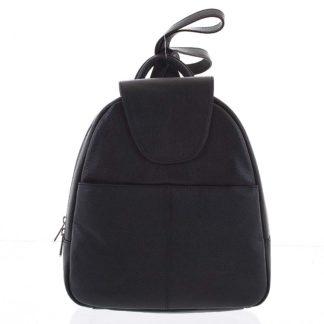 Měkký dámský kožený černý batoh do města - Hexagona Zinovia černá