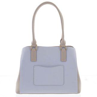Módní dámská kožená modro písková kabelka - Hexagona Zotico modrá