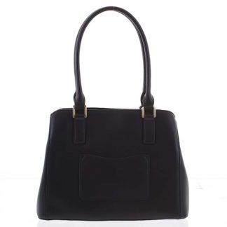 Módní dámská kožená černá kabelka - Hexagona Zotico černá
