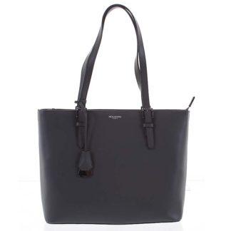 Velká luxusní dámská kožená tmavě šedá kabelka přes rameno - Hexagona Zoie šedá